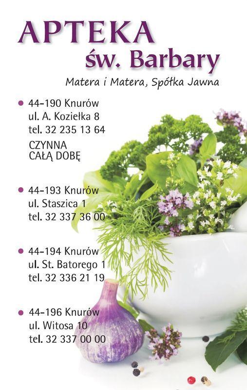 okładka kalendarza z danymi kontaktowymi apteki 1