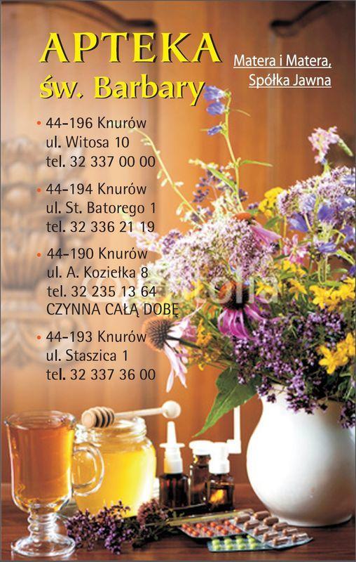 okładka kalendarza z danymi kontaktowymi apteki 7