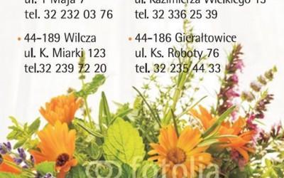 okładka kalendarza z danymi kontaktowymi apteki 2