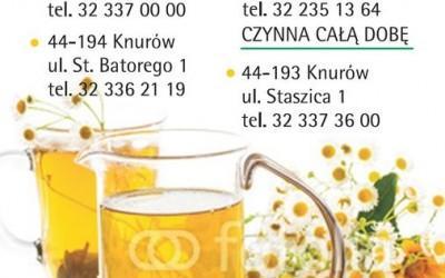 okładka kalendarza z danymi kontaktowymi apteki 8
